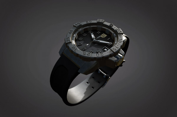 3D watch luminox navy seal model