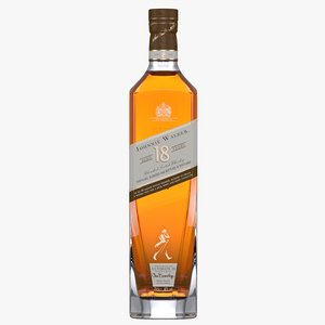 3D model johnnie walker platinum 18