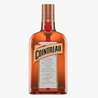 3D cointreau orange liqueur bottle