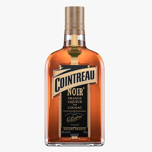 3D cointreau noir liqueur bottle model