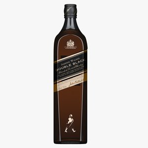 3D johnnie walker double black