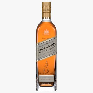3D johnnie walker gold label bottle model
