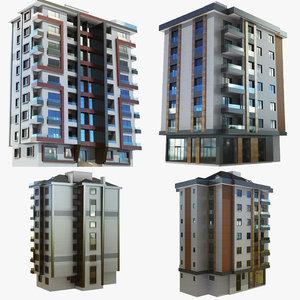 modern building 2 1 model