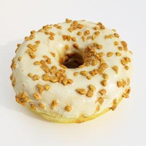 3D model donut caramel