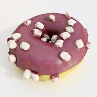 3D dessert cake donut