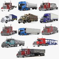 3D industrial trucks trailers model