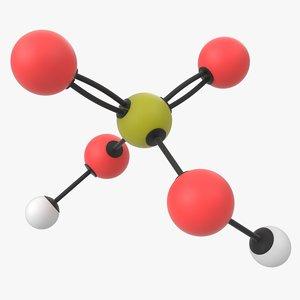 3D sulfuric acid molecule