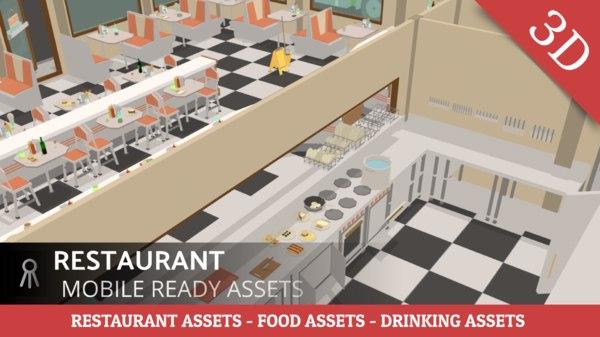 restaurant assets 3D