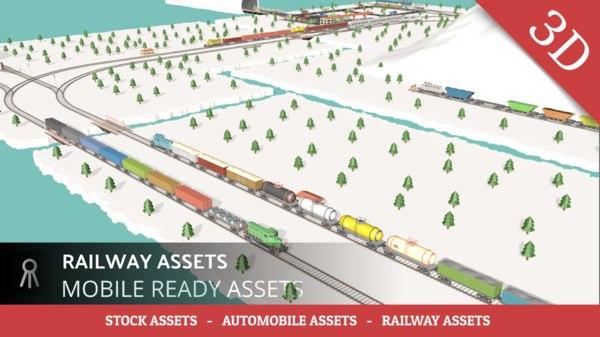 railway assets 3D model