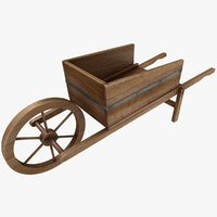 wooden wheelbarrow model