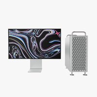 3D model apple mac pro 2019