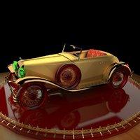 classic antique car 3D model