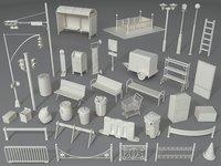 Street Elements - Part - 4 - 39 pieces