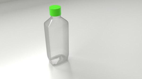 3D plastic bottle 3 model