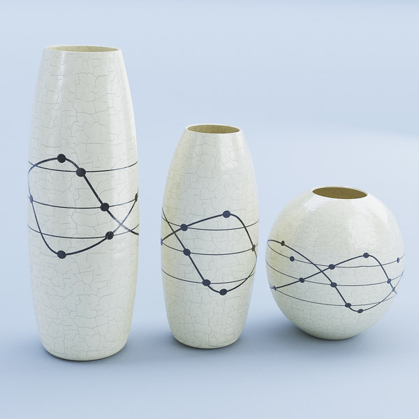 3D model ceramic white vase