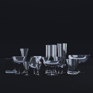 3D glassware set model