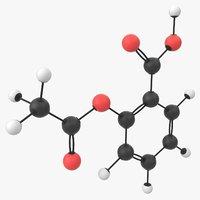 3D aspirin molecule