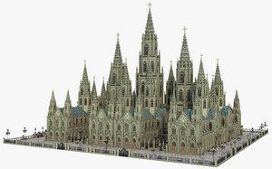 architecture church building model