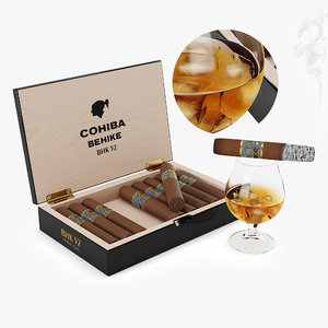3D whiskey cohiba cigars