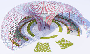 futuristic park 3D model