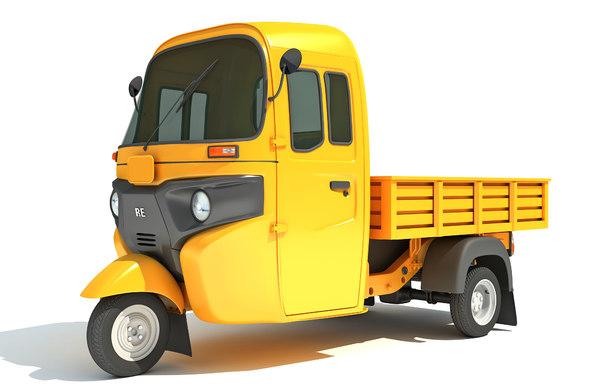 3D auto rickshaw mini truck