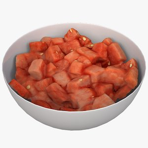watermelon salad 3D model