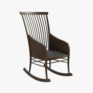 3D rocking chair model