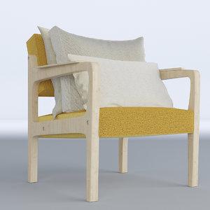 lounge cushion 3D model