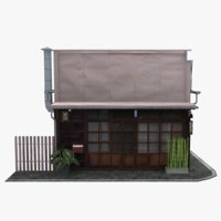 old tokyo townhouse building 3D