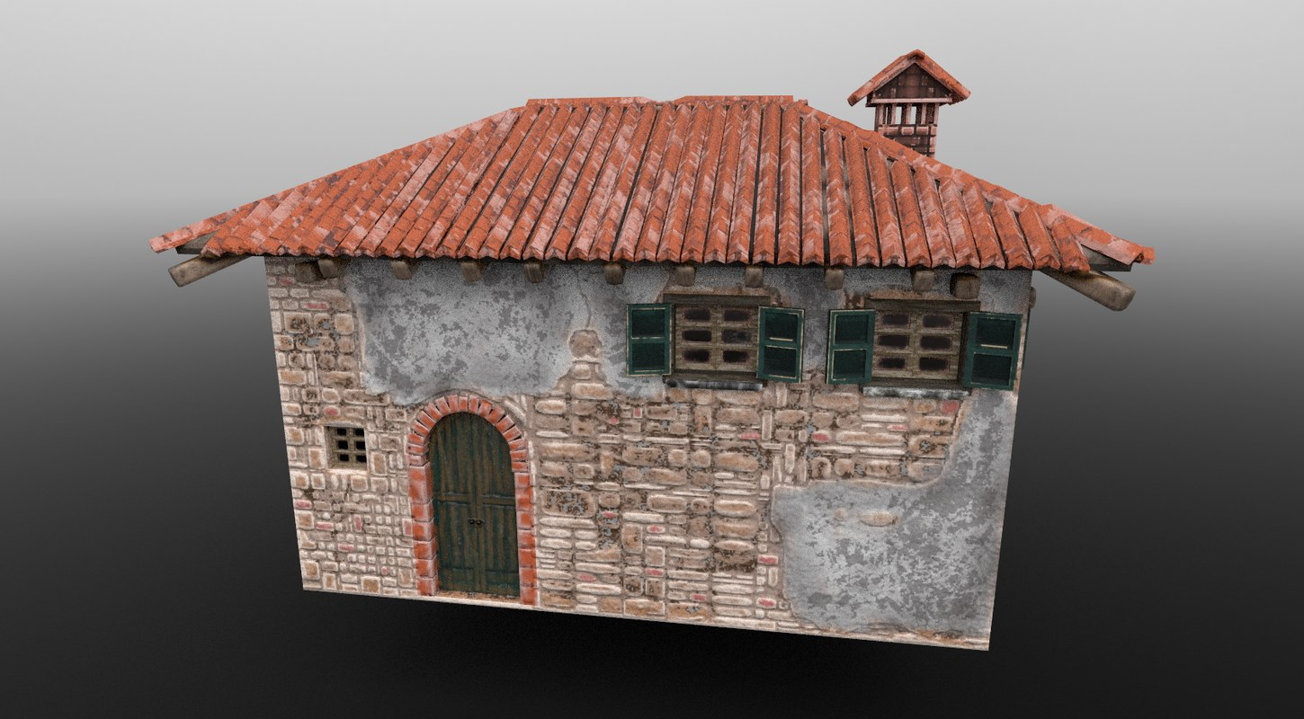 stone old house 3D model