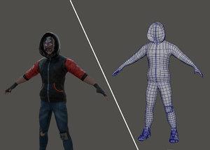 3D bike character games model