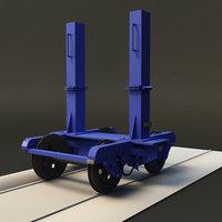 wheel axis 3D model