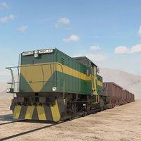 3D model train hopper car