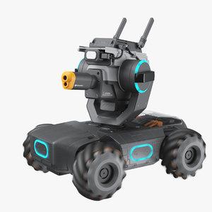 3D dji robomaster s1 rigged