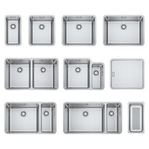 3D model steel sinks