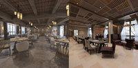 3D model restaurant interior 1 2