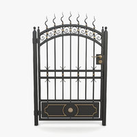 3D wrought iron gate 10