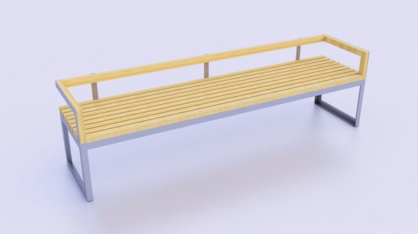 3D simple garden chair model