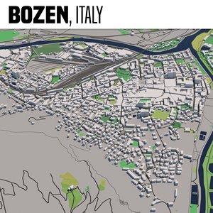 3D city bolzano italy