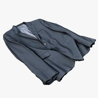 3D mens suit jacket