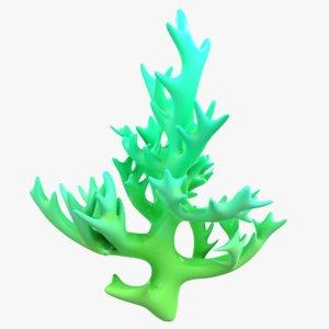 modeled coral 3D model