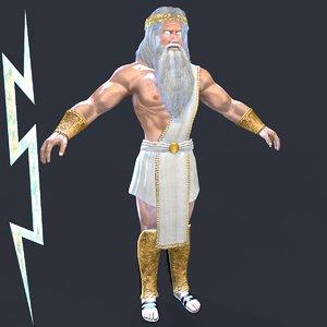 greek god zeus 3D model