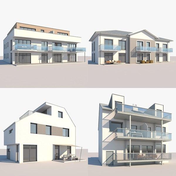 apartment buildings 3D model