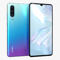 huawei p30 amber sunrise 3D model