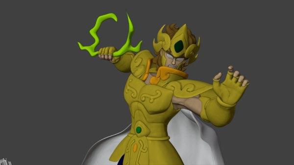 saint seiya aiolia leo 3D model