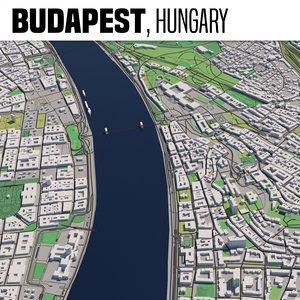 3D model city budapest