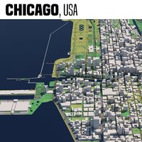 3D model city chicago