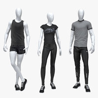 3D set sport suits tshirts