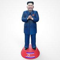 3D kim jong statue