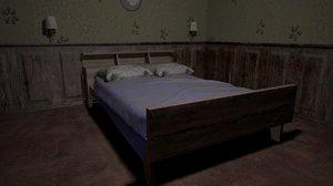3D model bedroom room indoors